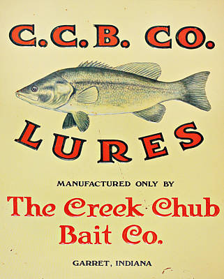 Fishing Bait Advertising Sign Poster by Randy Steele