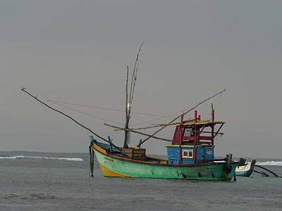 Fishing Boat At Anchor, Matara Poster by Panoramic Images