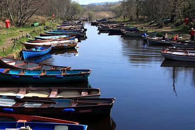 Fishing Boat Row Poster by Aidan Moran