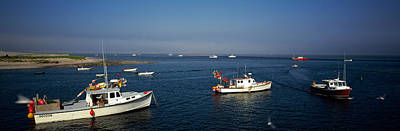 Fishing Boats In An Ocean, Cape Cod Poster by Panoramic Images