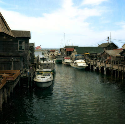 Fishing Boats In Fishtown Poster by Michelle Calkins