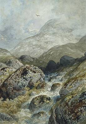 Fishing In The Mountains Poster by Gustave Dore