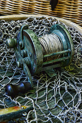 Fishing - That Old Fishing Reel Poster by Paul Ward