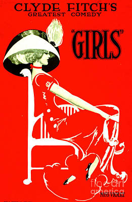 Fitch's Comedy 'girls' 1910 Poster by Padre Art