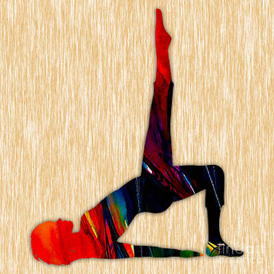 Fitness Yoga Poster by Marvin Blaine