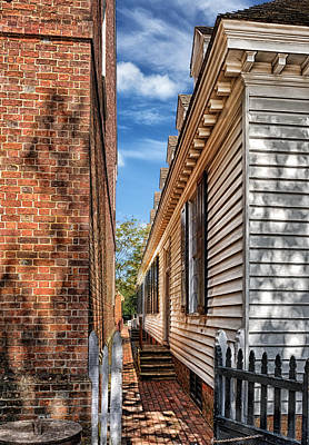 Narrow Tight Colonial Alley Poster by Frank J Benz