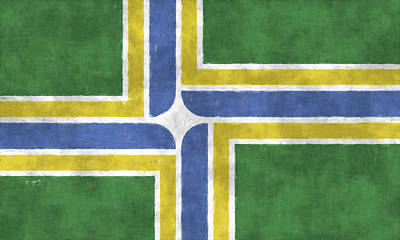 Flag Of Portland Poster by World Art Prints And Designs