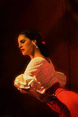 Flamenco Dancer 18 Poster by Mary Machare