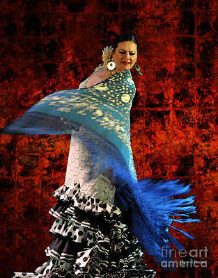 Flamenco Series #4 Poster by Mary Machare