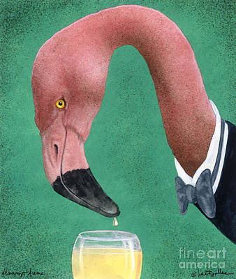 Flamingo Fume... Poster by Will Bullas