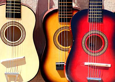 Flea Market Guitars Poster by Joe Kozlowski
