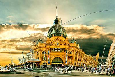 Flinders St Station Poster by Az Jackson