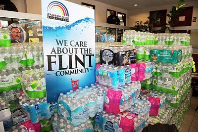 Flint Bottled Water Donation Poster by Jim West