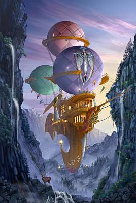 Floatilla Poster by Ciro Marchetti