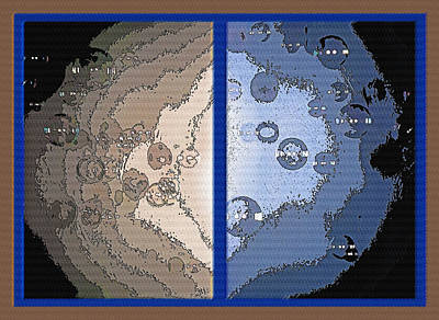Floating Bubbles Abstract Diptych Poster by Steve Ohlsen