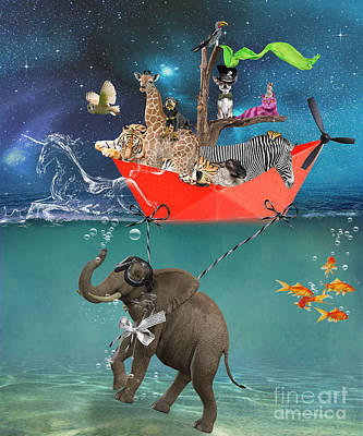 Floating Zoo Poster by Juli Scalzi