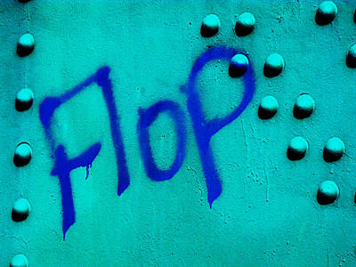 Flop In Blue Poster by Randi Kuhne