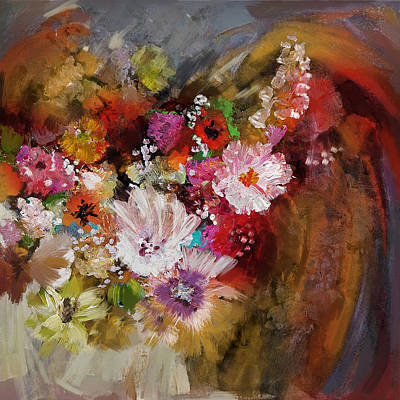 Floral 18b Poster by Mahnoor Shah