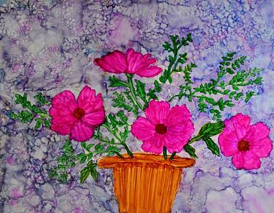 Floral Arrangement Poster by Linda Brown