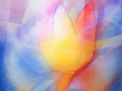 Floral Light Poster by Lutz Baar