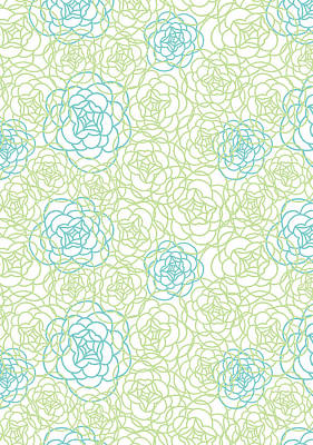 Floral Lines Poster by Susan Claire