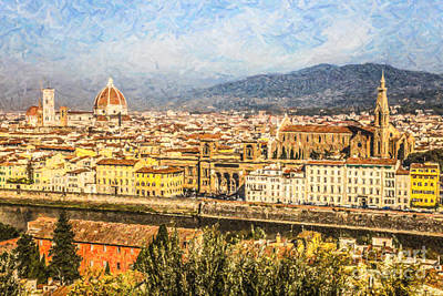 Florence Cityscape Poster by Liz Leyden
