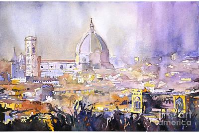 Florence Duomo Poster by Ryan Fox