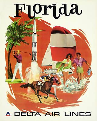 Florida Delta Airlines Poster by David Wagner