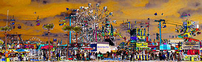 Florida State Fair Panorama Poster by David Lee Thompson