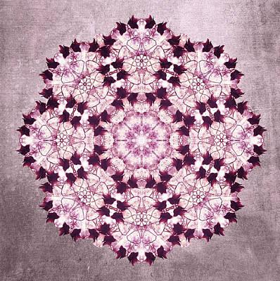 Flower Mandala Pink Poster by Filippo B