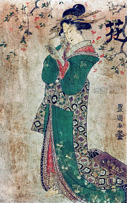 Flower Of Japan C. 1804 Poster by Daniel Hagerman