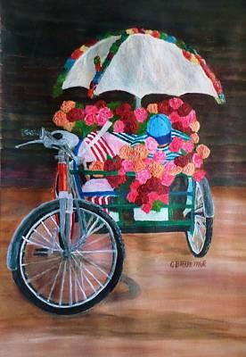 Flower Peddler Poster by Christy Saunders Church