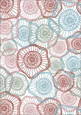 Flower Squiggle Poster by Susan Claire