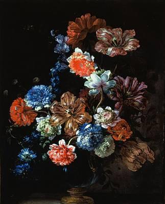 Flower Still Life Poster by Jean-Baptiste Monnoyer
