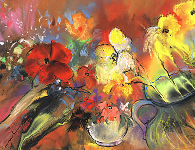 Flowers Of Joy Poster by Miki De Goodaboom