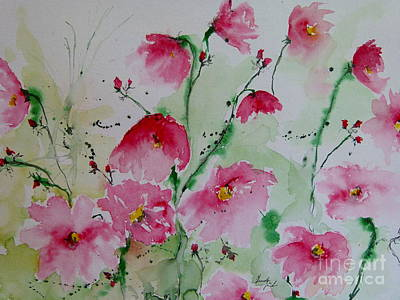 Flowers - Watercolor Painting Poster by Ismeta Gruenwald