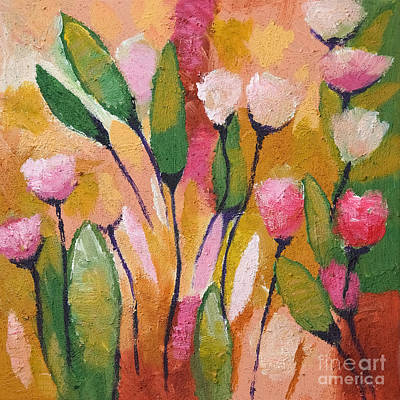 Flowers With Yellow Poster by Lutz Baar