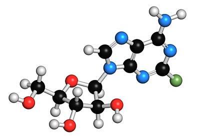 Fludarabine Blood Cancer Drug Molecule Poster by Molekuul