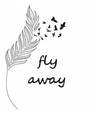 Fly Away Poster by Jennifer Kimberly