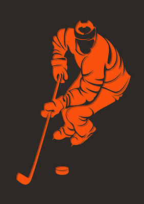 Flyers Shadow Player3 Poster by Joe Hamilton