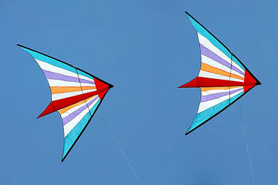 Flying Kites Into The Wind Poster by Christine Till