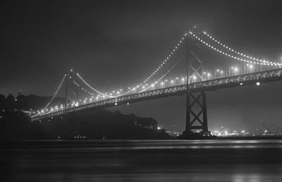 Foggy Bay Bridge Poster by Bryant Coffey