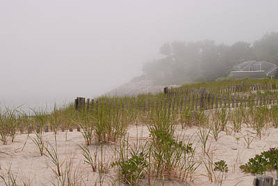 foggy morning on Chatham beach Poster by Jeff Folger