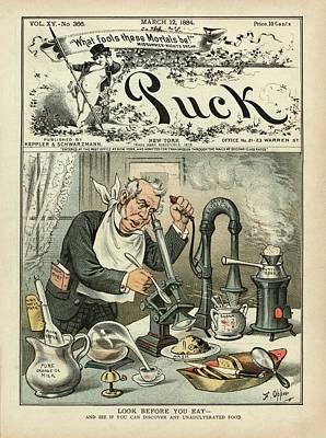 Food Testing Satire Poster by Library Of Congress