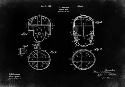 Football Helmet 1926 - Black Poster by Mark Rogan