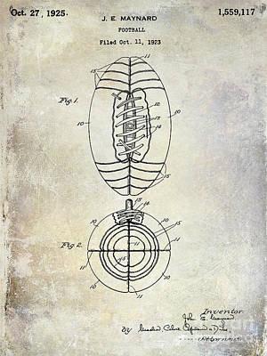 1925 Football Patent Drawing Poster by Jon Neidert
