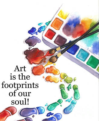 Footprints Of Our Soul Poster by Conni  Reinecke