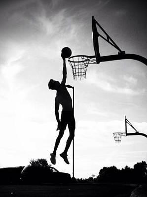 For The Love Of Basketball  Poster by Lisa Piper Menkin Stegeman