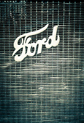 Ford Grill Poster by Colleen Kammerer