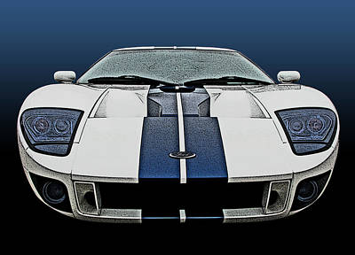 Ford Gt-40 Head On Poster by Samuel Sheats